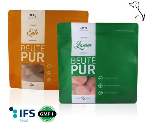 Frostpaket BEUTE PUR Lamm + Ente 'meatmix' (XXL Paket)