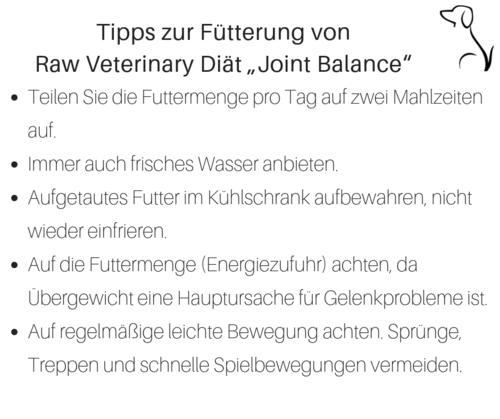 Raw Veterinary Diet 'Joint Balance' 10x450g