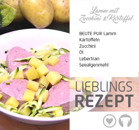 Lamm mit Kartoffeln und Zucchini